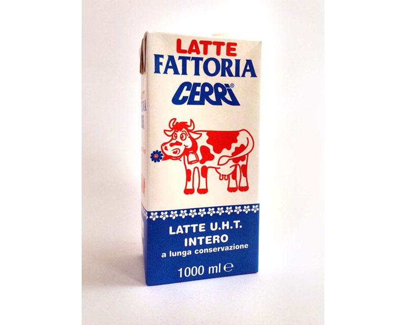 Sin dal 1964 Cerri è stato tra i primi in Italia a produrre latte U.H.T. in confezioni Tetrapak* come testimonia la targa di riconoscimento. È possibile gustare l'eccellente qualità del latte U.H.T. Cerri confezionato e venduto con i seguenti marchi: Valsesia, Alpelat, Primolat e Fattorie Cerri.